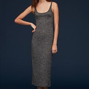 Aritzia Babaton Midi Marled grey tank dress